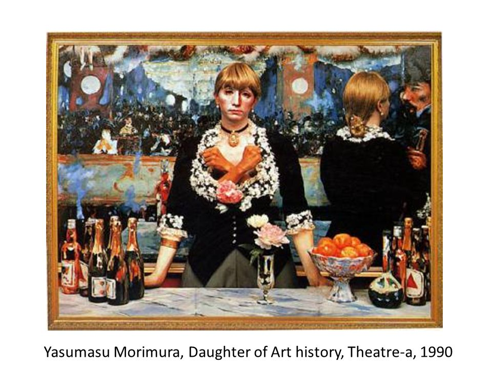 Yasumasu Morimura, Daughter of Art history, Theatre-a, 1990