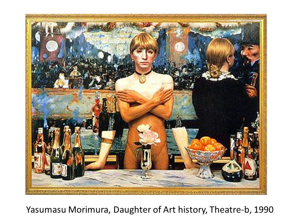 Yasumasu Morimura, Daughter of Art history, Theatre-b, 1990