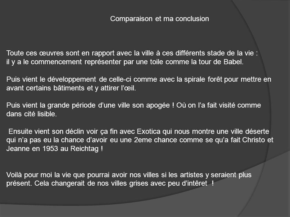 Comparaison et ma conclusion