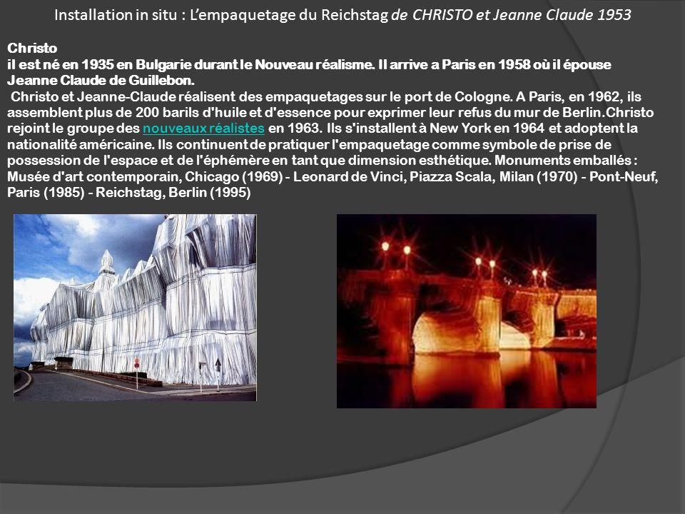 Installation in situ : L'empaquetage du Reichstag de CHRISTO et Jeanne Claude 1953