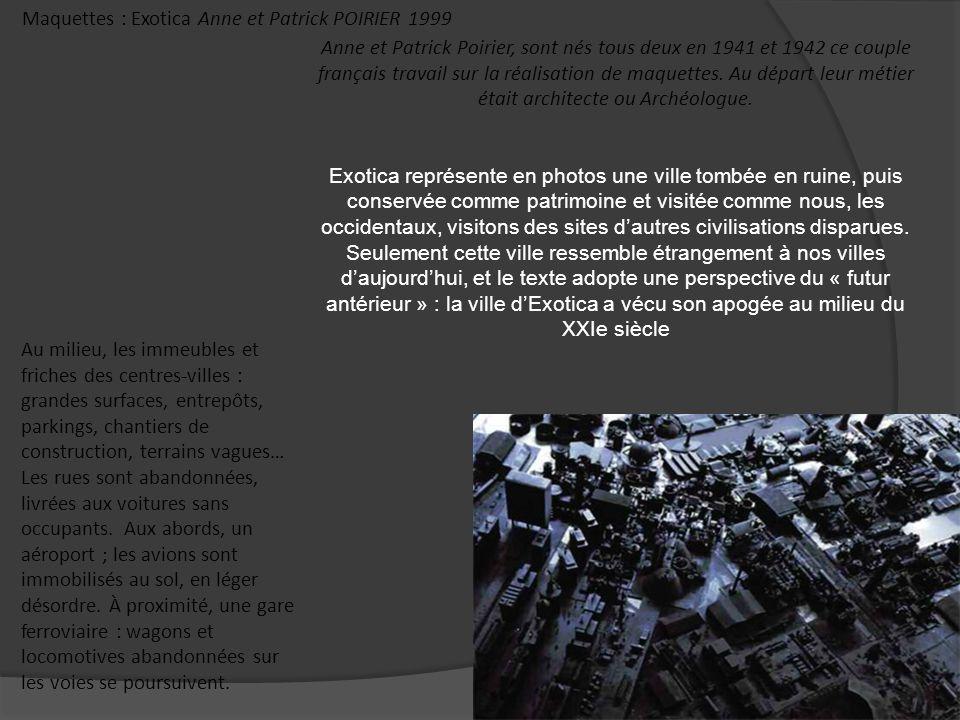 Maquettes : Exotica Anne et Patrick POIRIER 1999