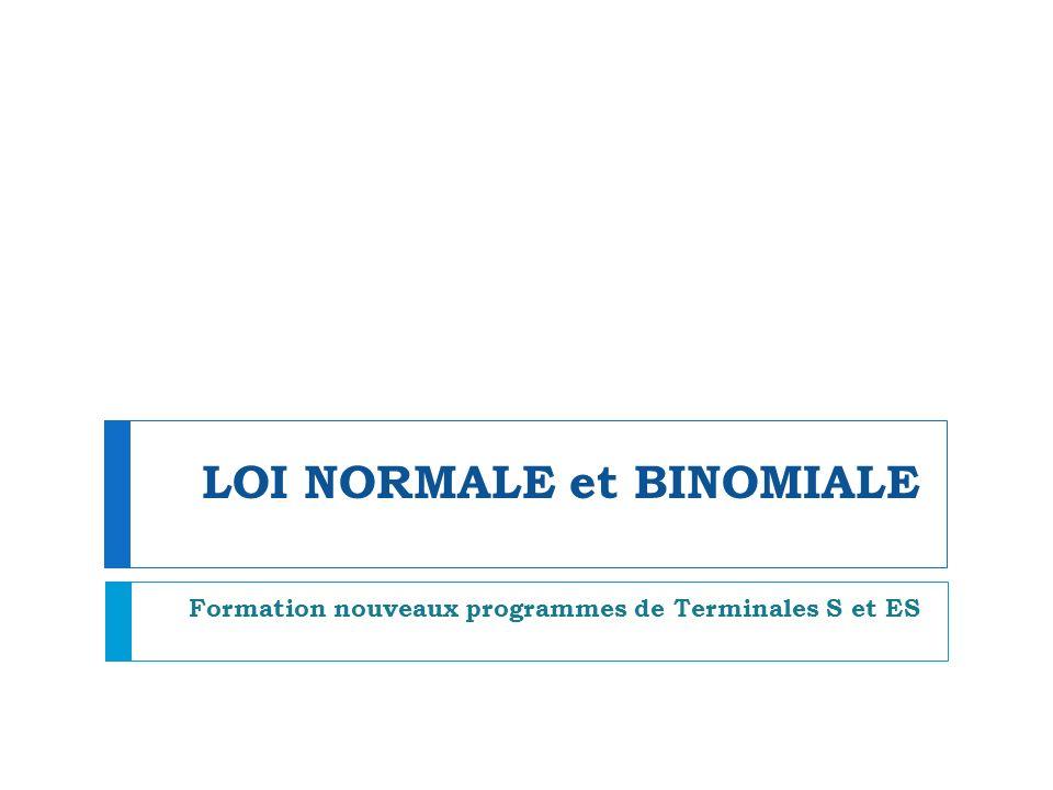 LOI NORMALE et BINOMIALE