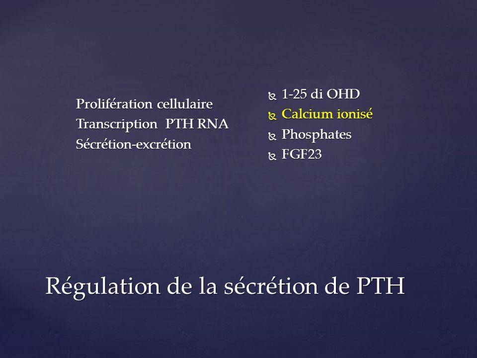 Régulation de la sécrétion de PTH