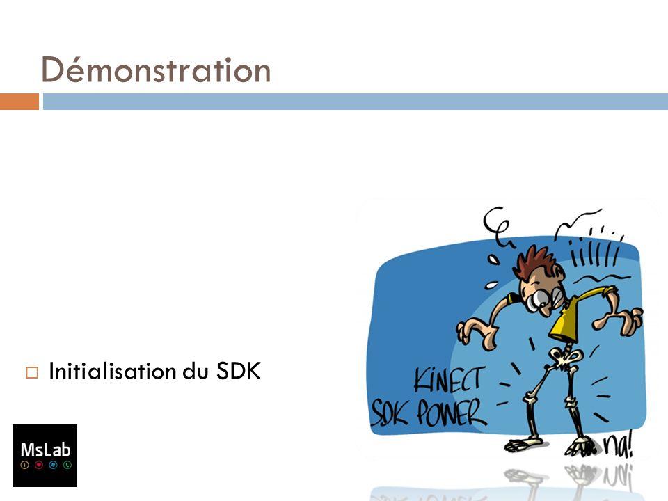 Démonstration Initialisation du SDK