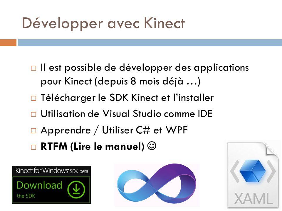 Développer avec Kinect