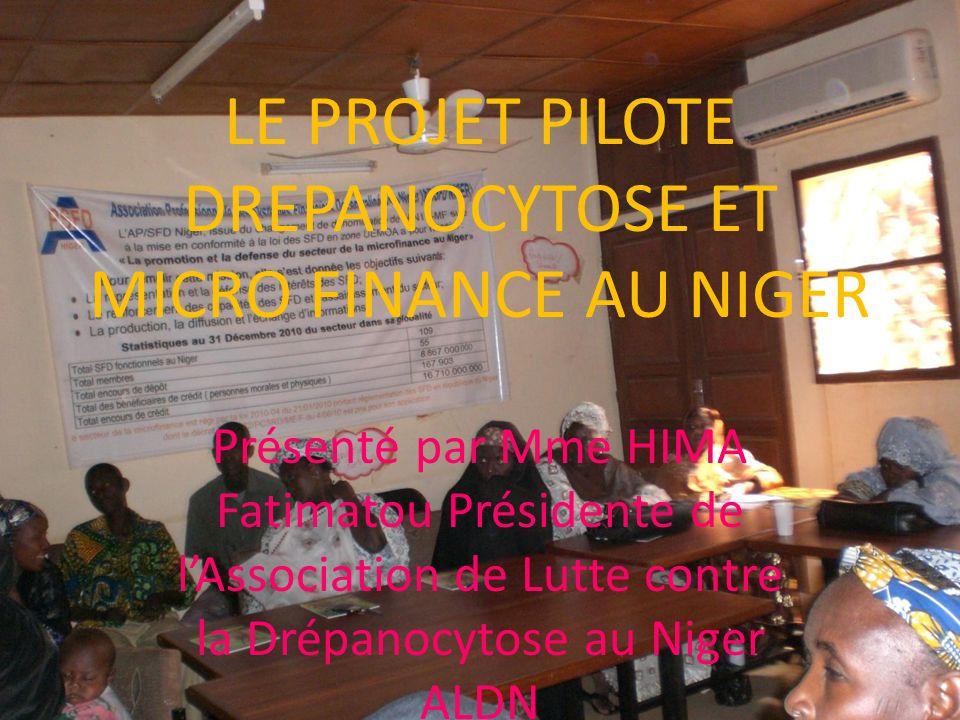 LE PROJET PILOTE DREPANOCYTOSE ET MICRO FINANCE AU NIGER