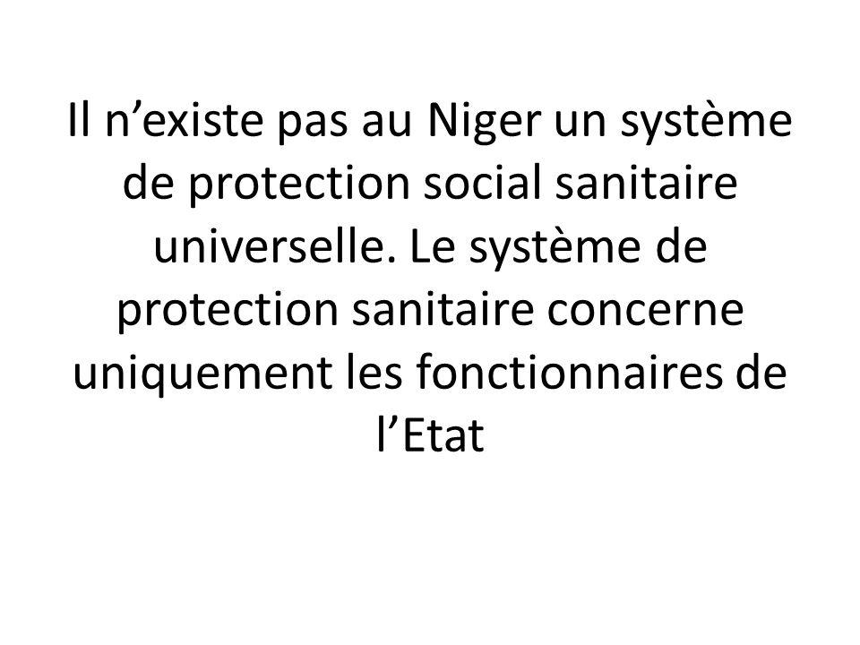 Il n'existe pas au Niger un système de protection social sanitaire universelle.