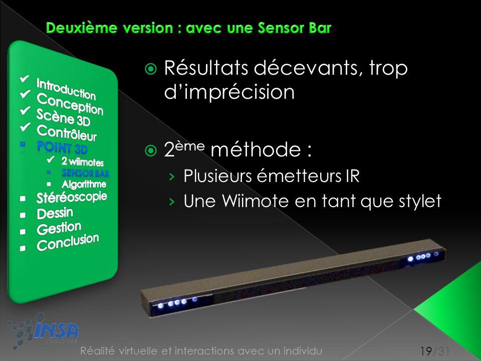 Deuxième version : avec une Sensor Bar