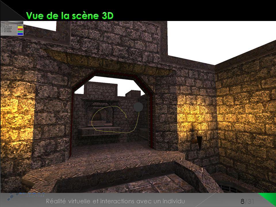 Vue de la scène 3D Conception Scène 3D Contrôleur Point 3D