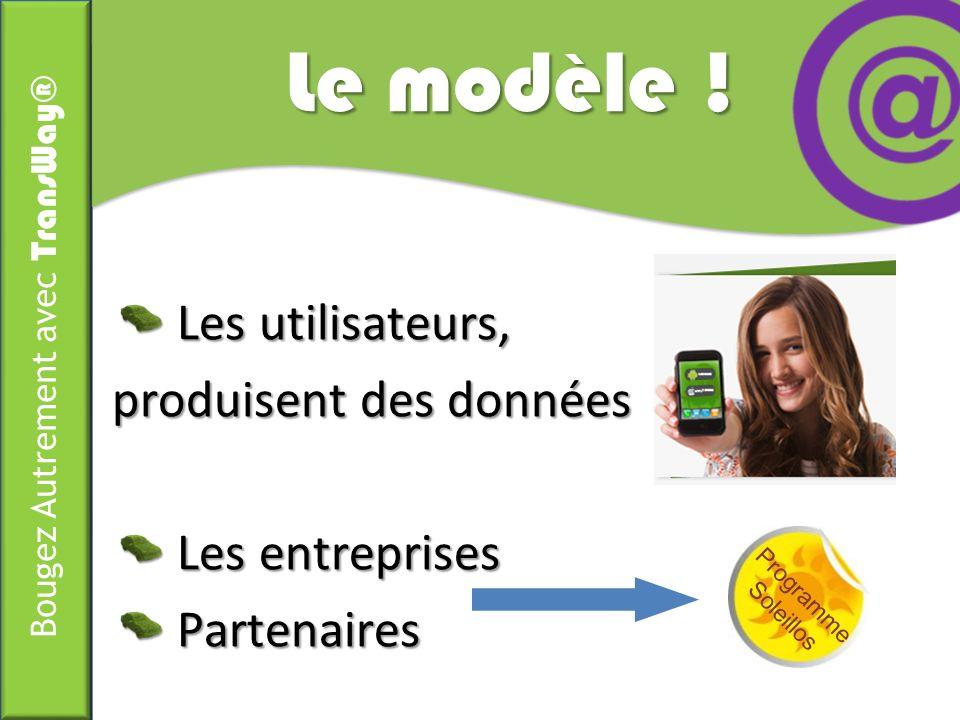 Le modèle ! Les utilisateurs, produisent des données Les entreprises