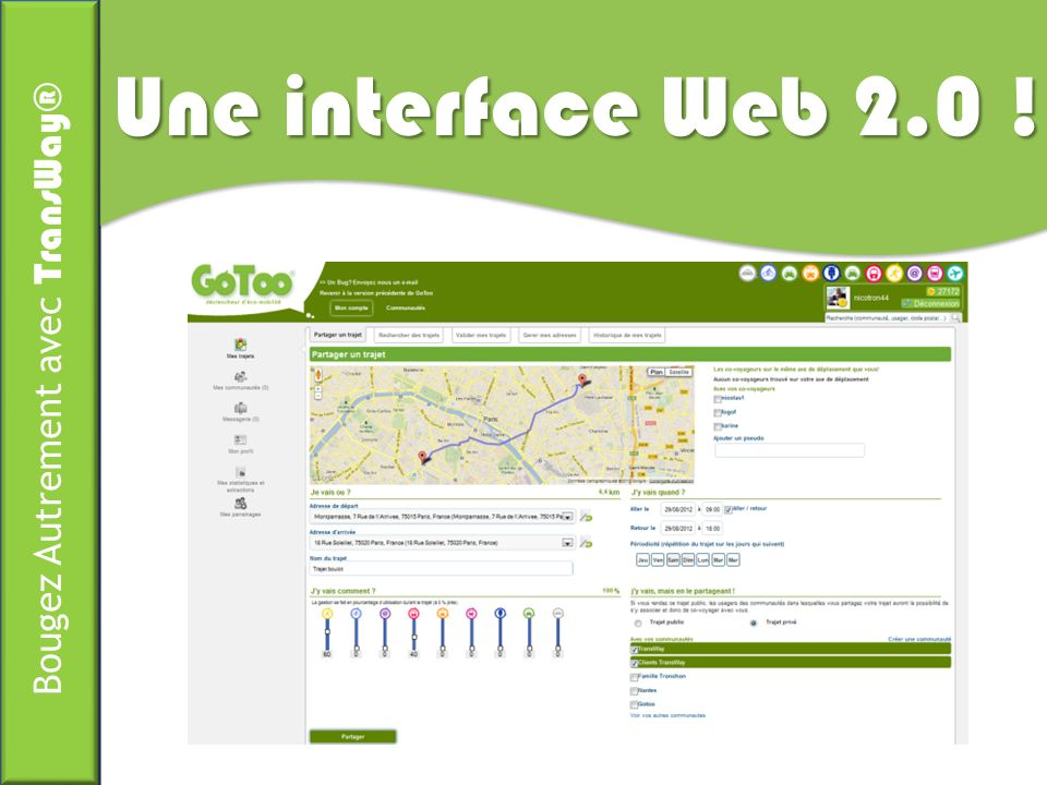 Une interface Web 2.0 !