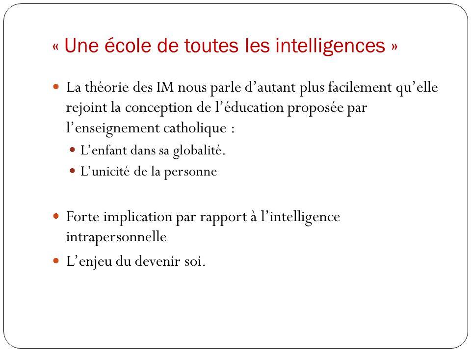 « Une école de toutes les intelligences »