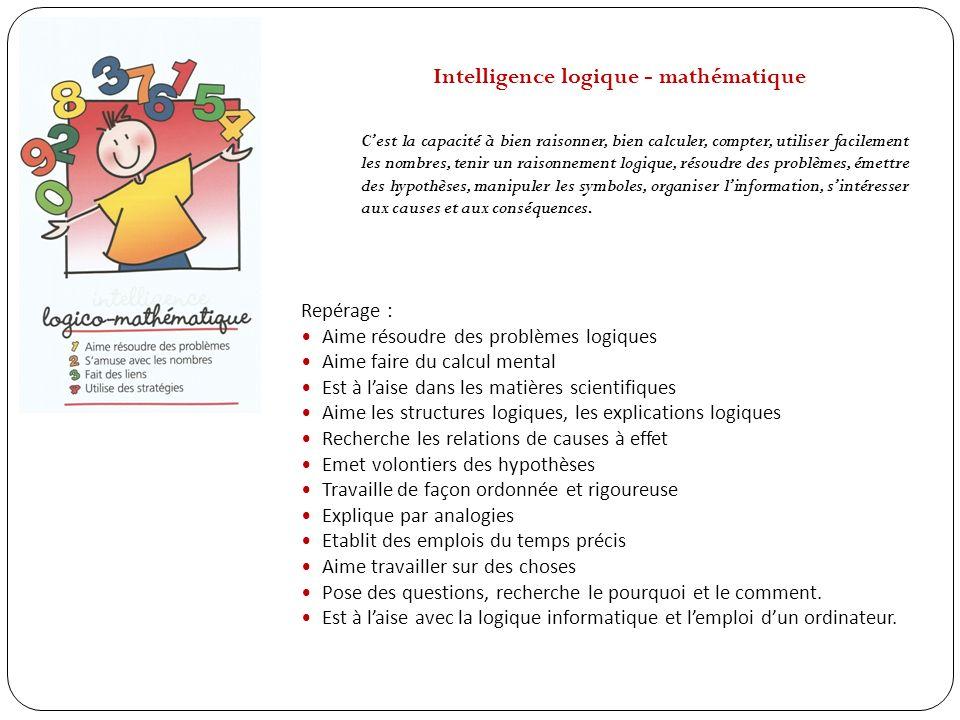 Intelligence logique - mathématique