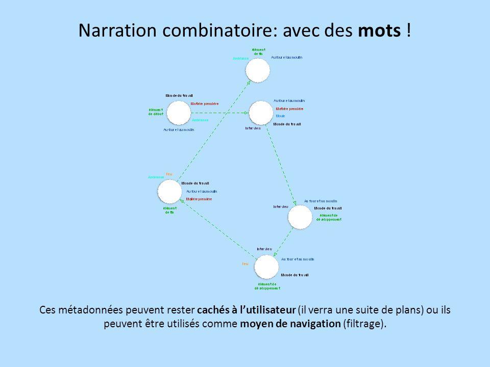 Narration combinatoire: avec des mots !