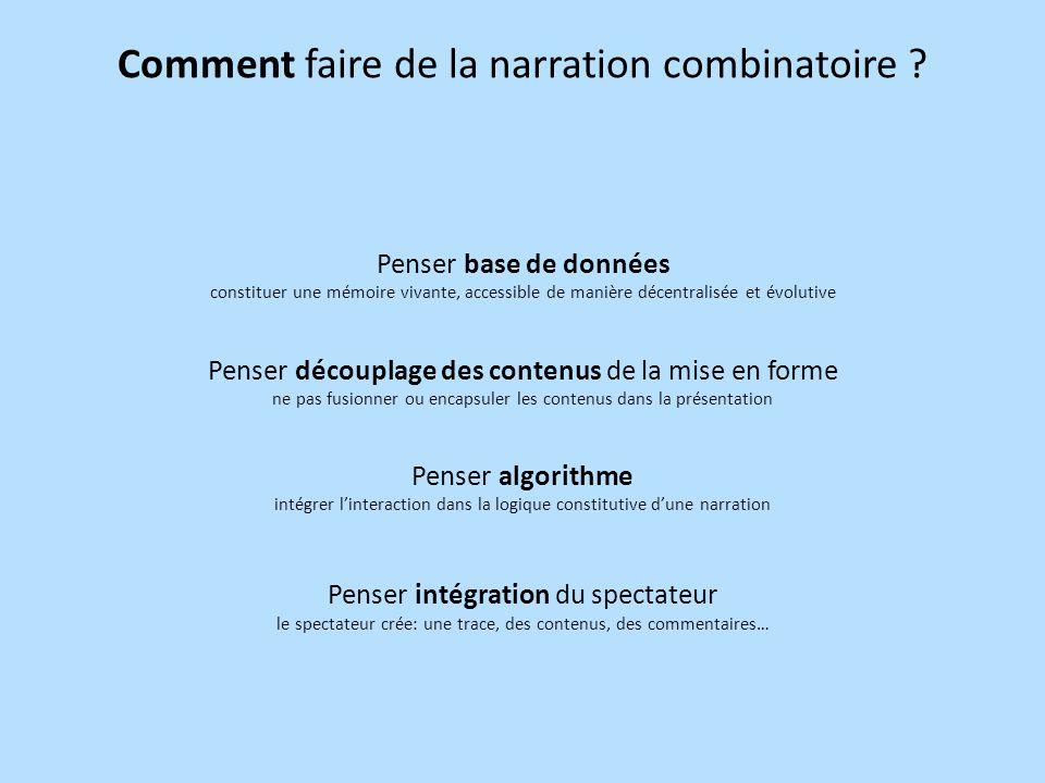 Comment faire de la narration combinatoire