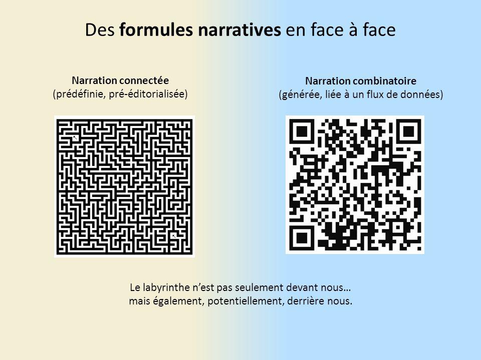 Des formules narratives en face à face