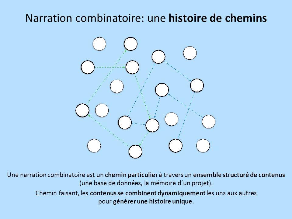 Narration combinatoire: une histoire de chemins