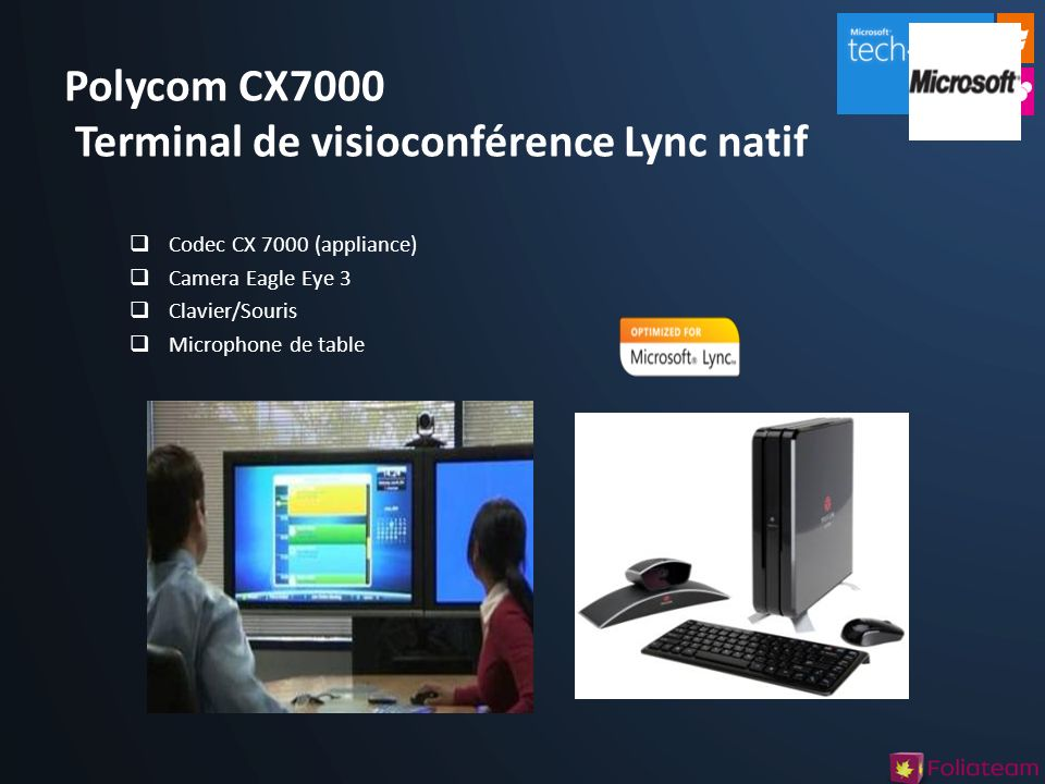 Polycom CX7000 Terminal de visioconférence Lync natif
