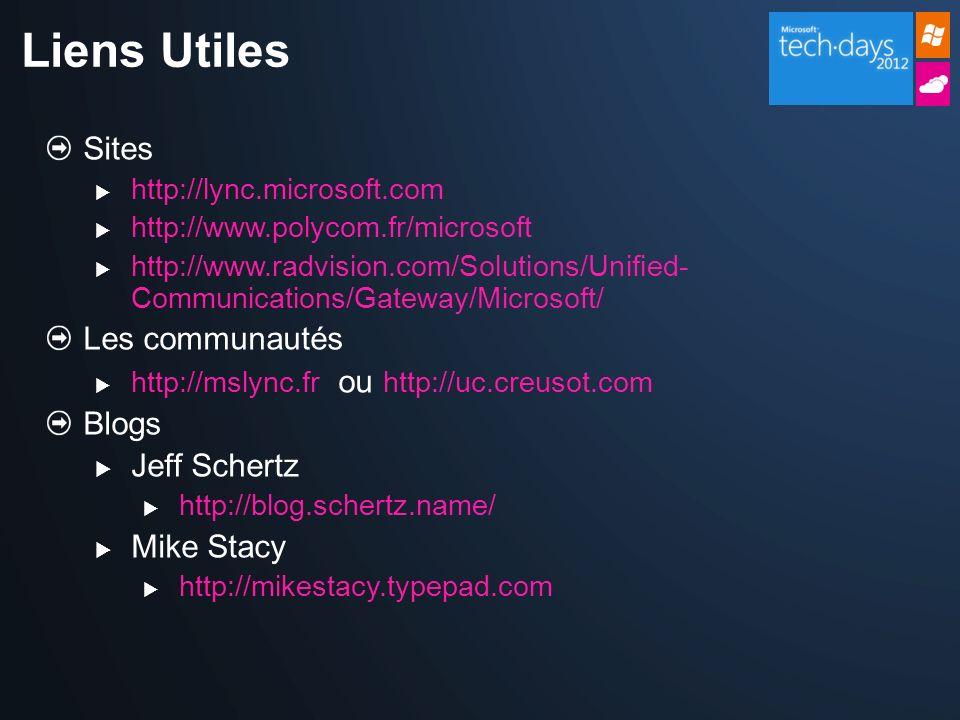 Liens Utiles Sites Les communautés Blogs Jeff Schertz Mike Stacy