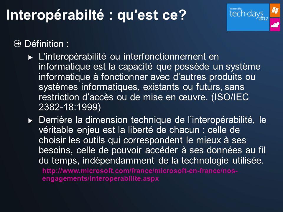 Interopérabilté : qu est ce