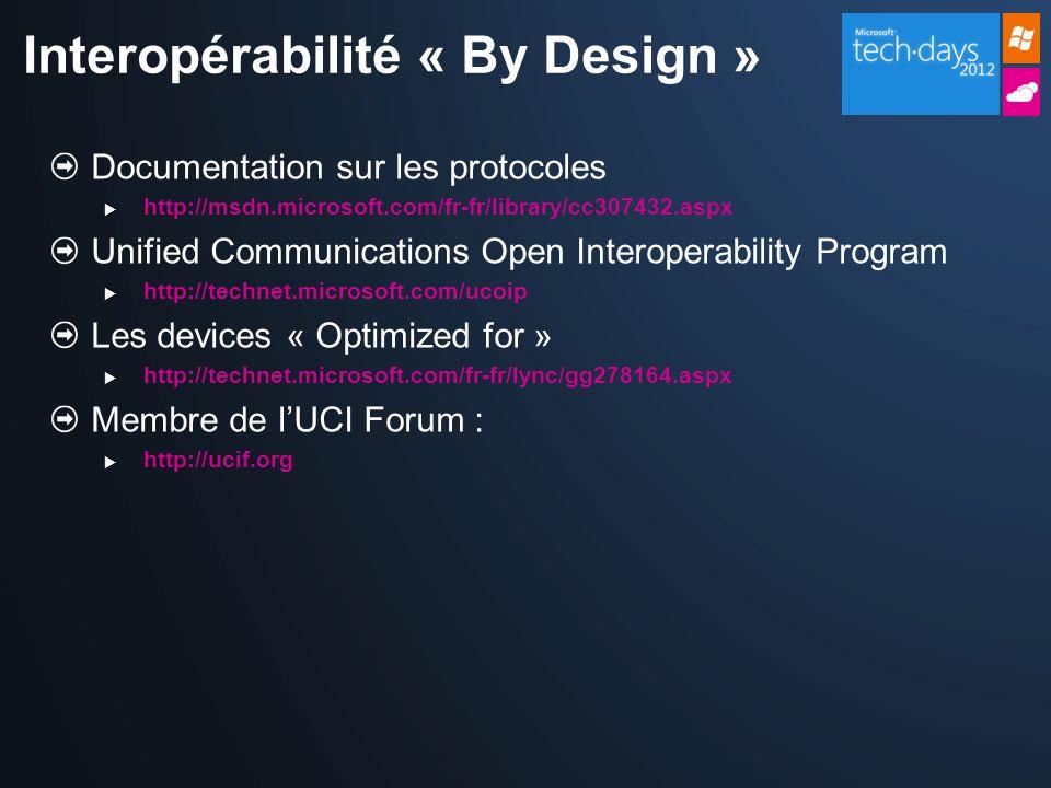 Interopérabilité « By Design »