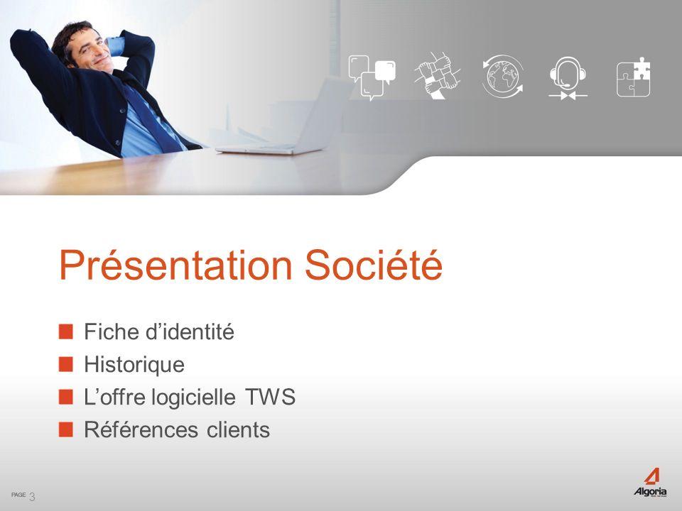 Présentation Société Fiche d'identité Historique