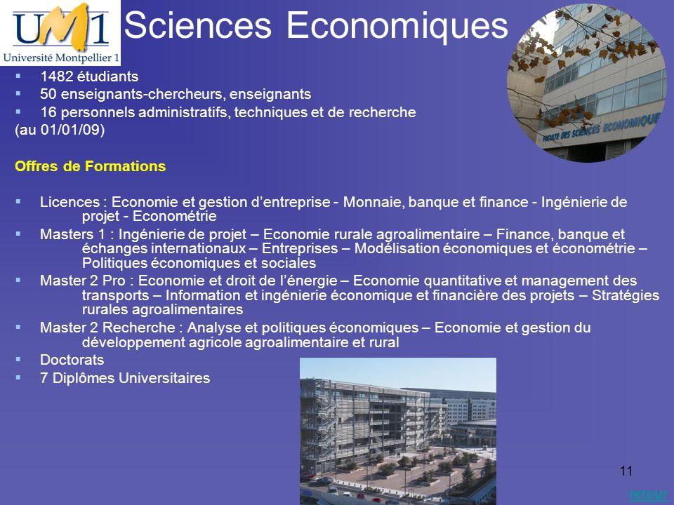 Sciences Economiques 1482 étudiants