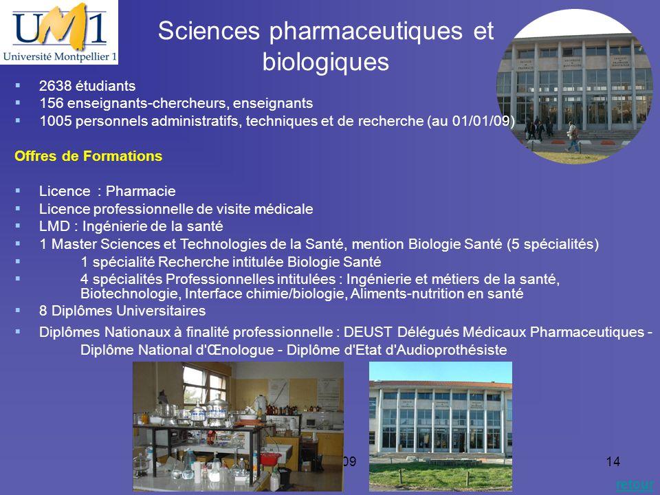 Sciences pharmaceutiques et biologiques