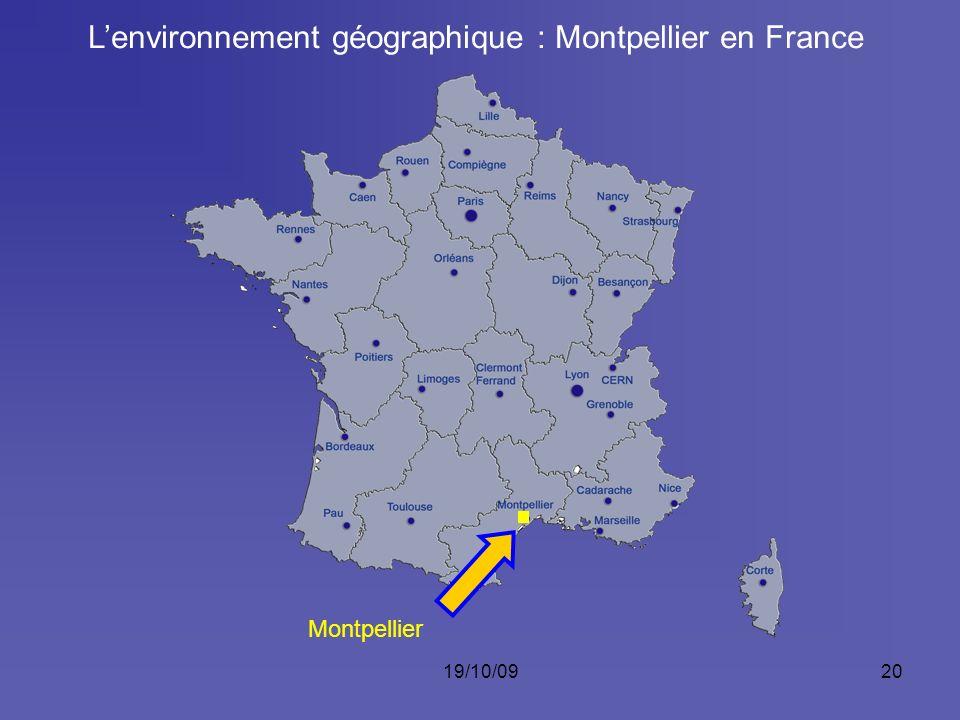 L'environnement géographique : Montpellier en France