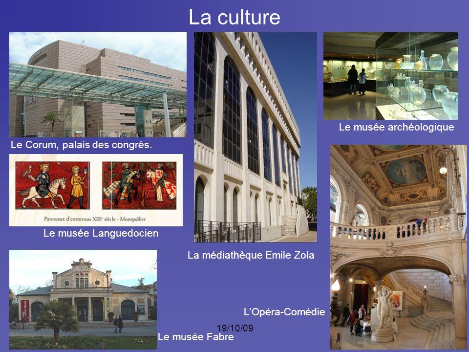 La culture Le musée archéologique Le Corum, palais des congrès.