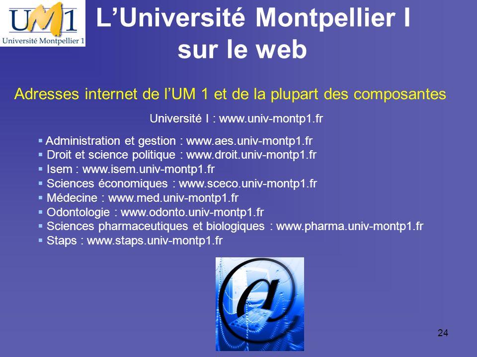 L'Université Montpellier I sur le web