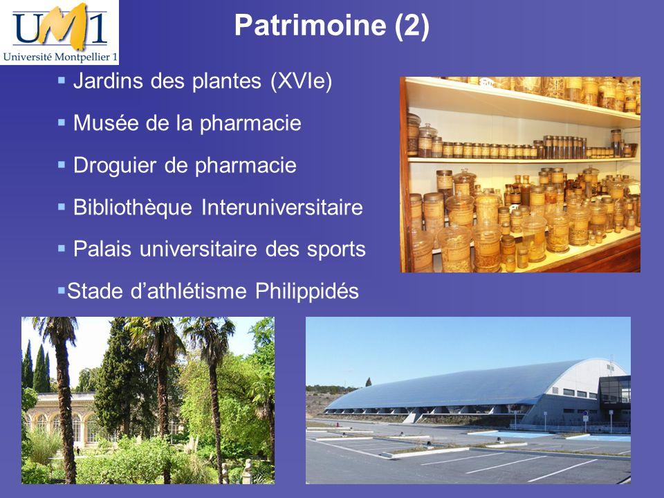 Patrimoine (2) Jardins des plantes (XVIe) Musée de la pharmacie
