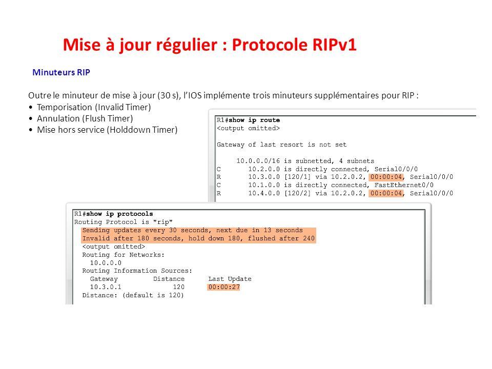 Mise à jour régulier : Protocole RIPv1