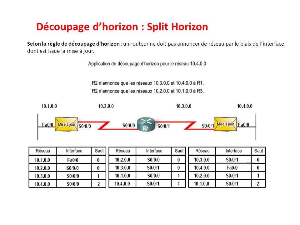 Découpage d'horizon : Split Horizon
