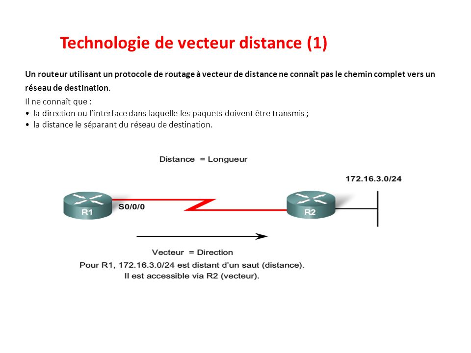 Technologie de vecteur distance (1)