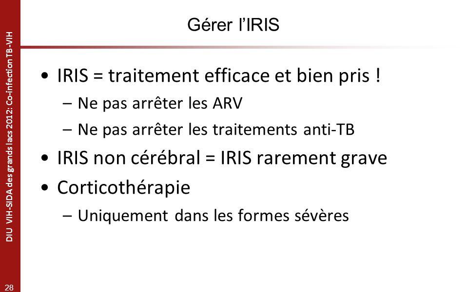 IRIS = traitement efficace et bien pris !