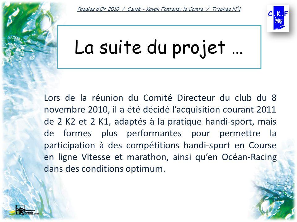 Pagaies d'Or 2010 / Canoë – Kayak Fontenay le Comte / Trophée N°1