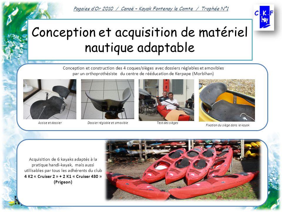 Conception et acquisition de matériel nautique adaptable