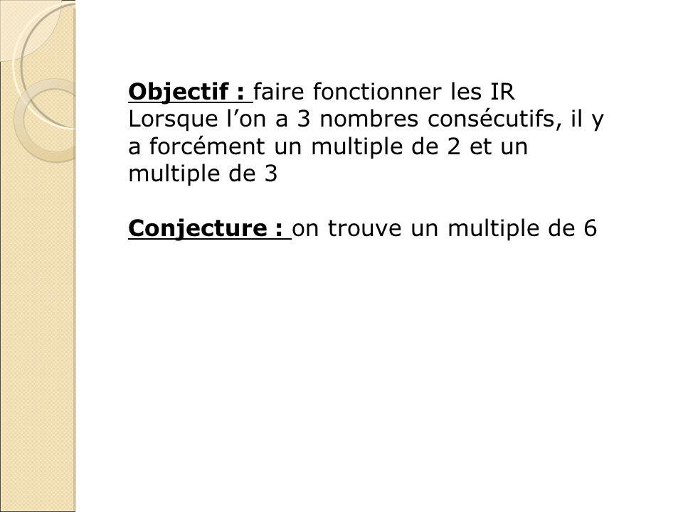 Objectif : faire fonctionner les IR