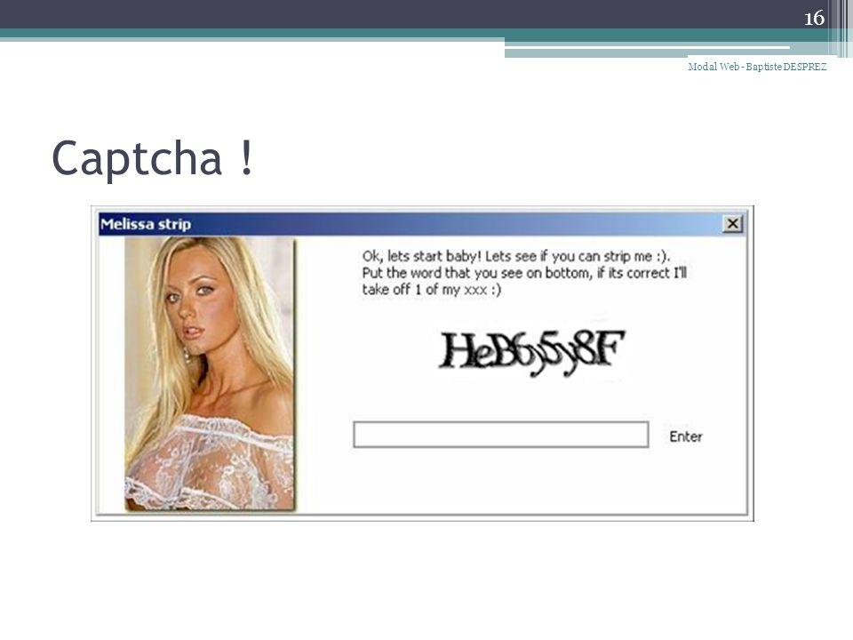 Modal Web - Baptiste DESPREZ