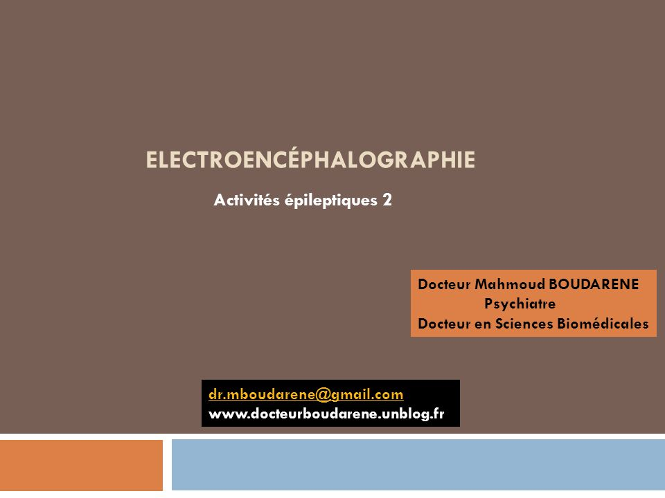 Electroencéphalographie