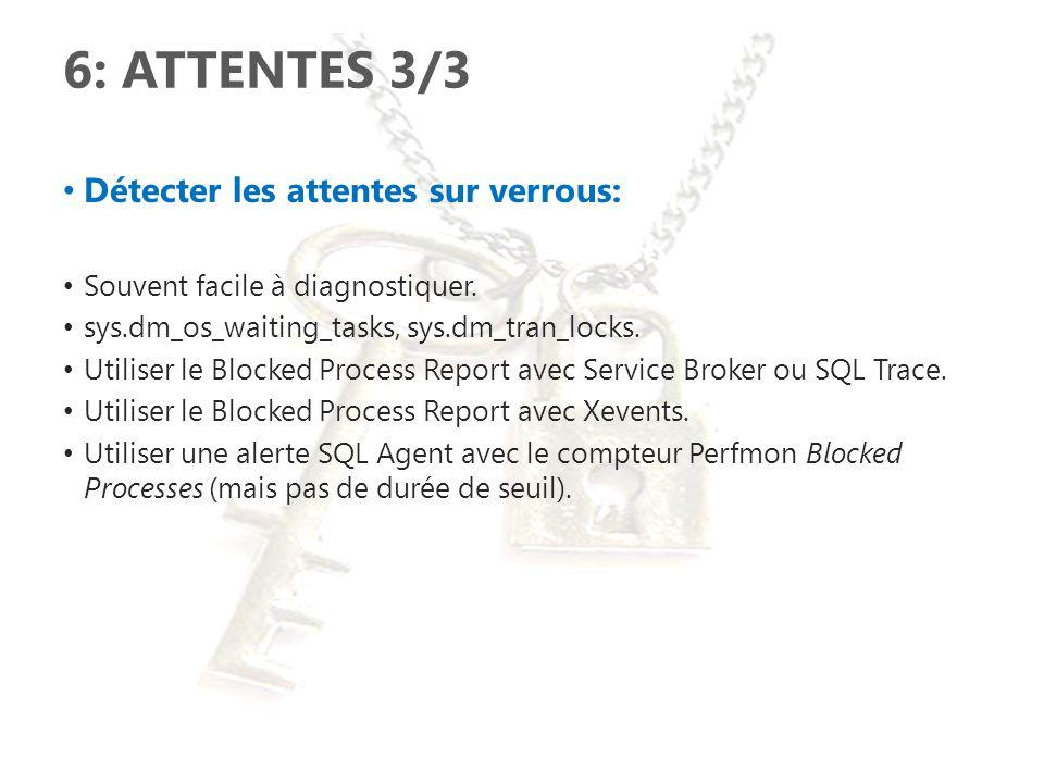 6: ATTENTES 3/3 Détecter les attentes sur verrous: