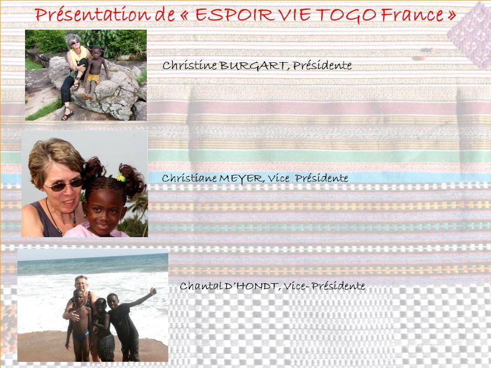 Présentation de « ESPOIR VIE TOGO France »