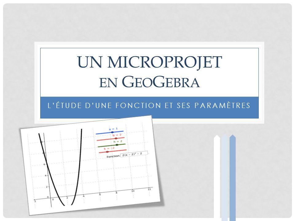 Un microprojet en GeoGebra