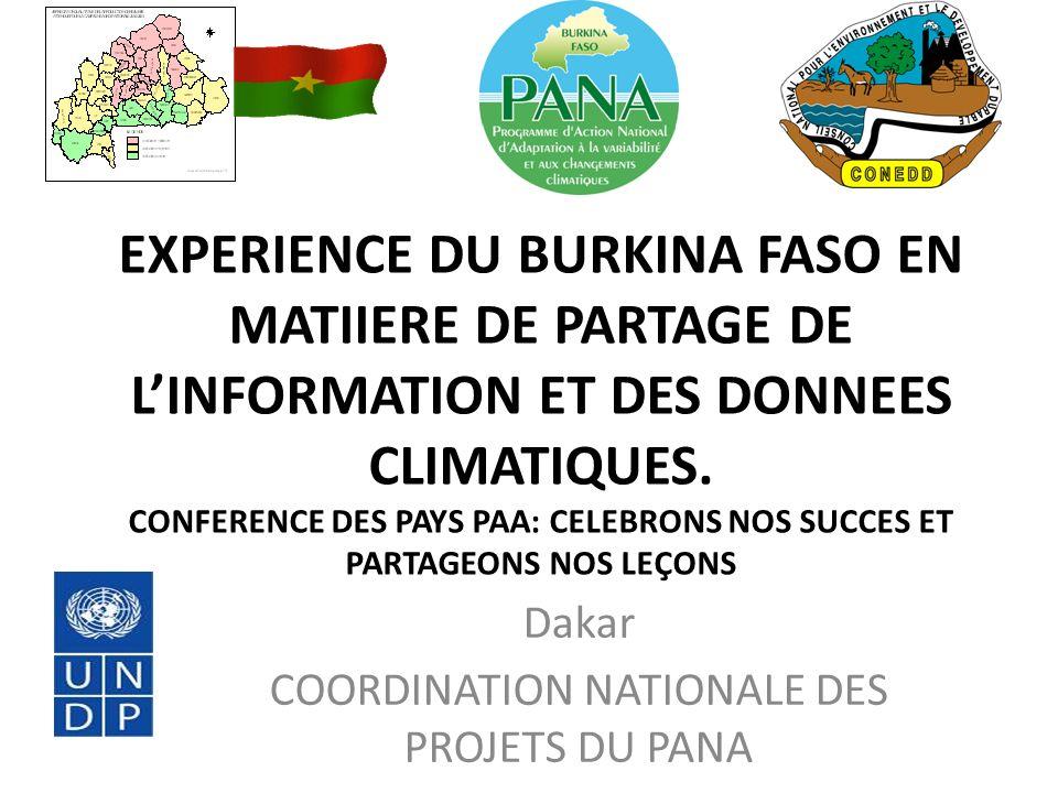 Dakar COORDINATION NATIONALE DES PROJETS DU PANA