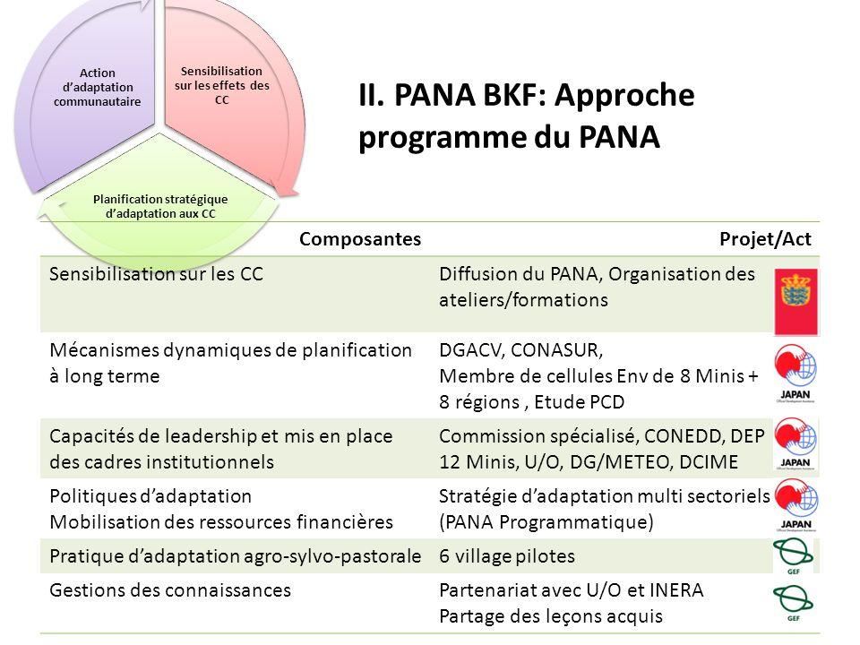 II. PANA BKF: Approche programme du PANA