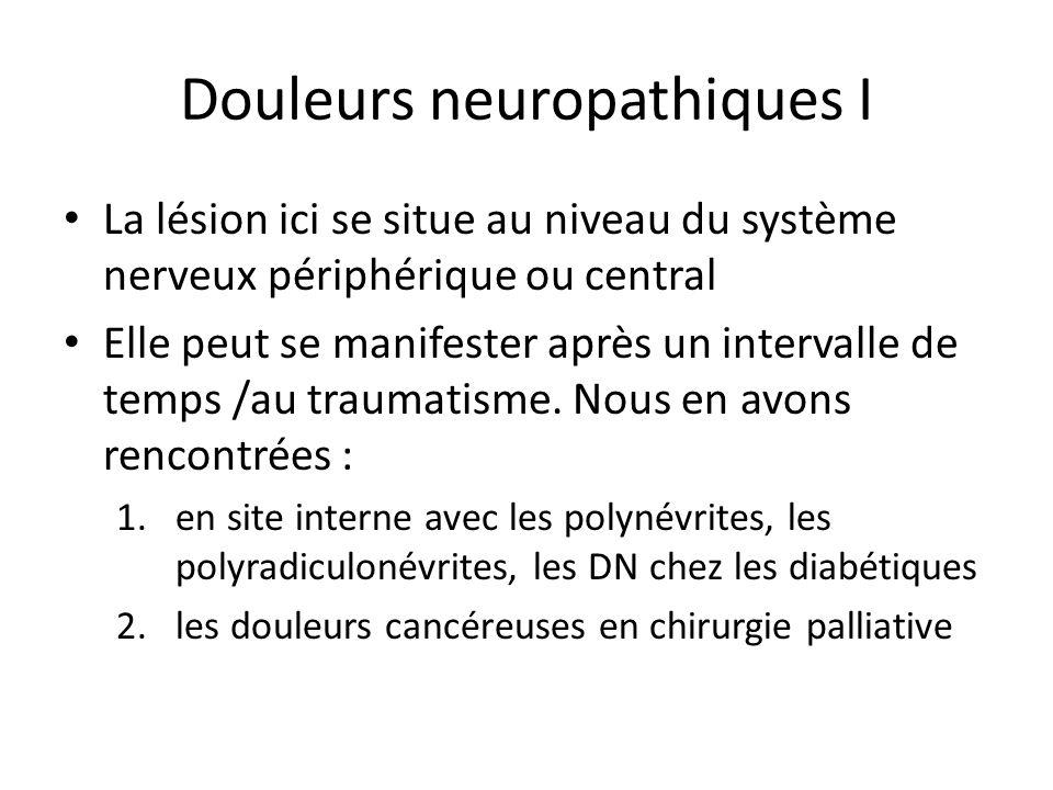 Douleurs neuropathiques I