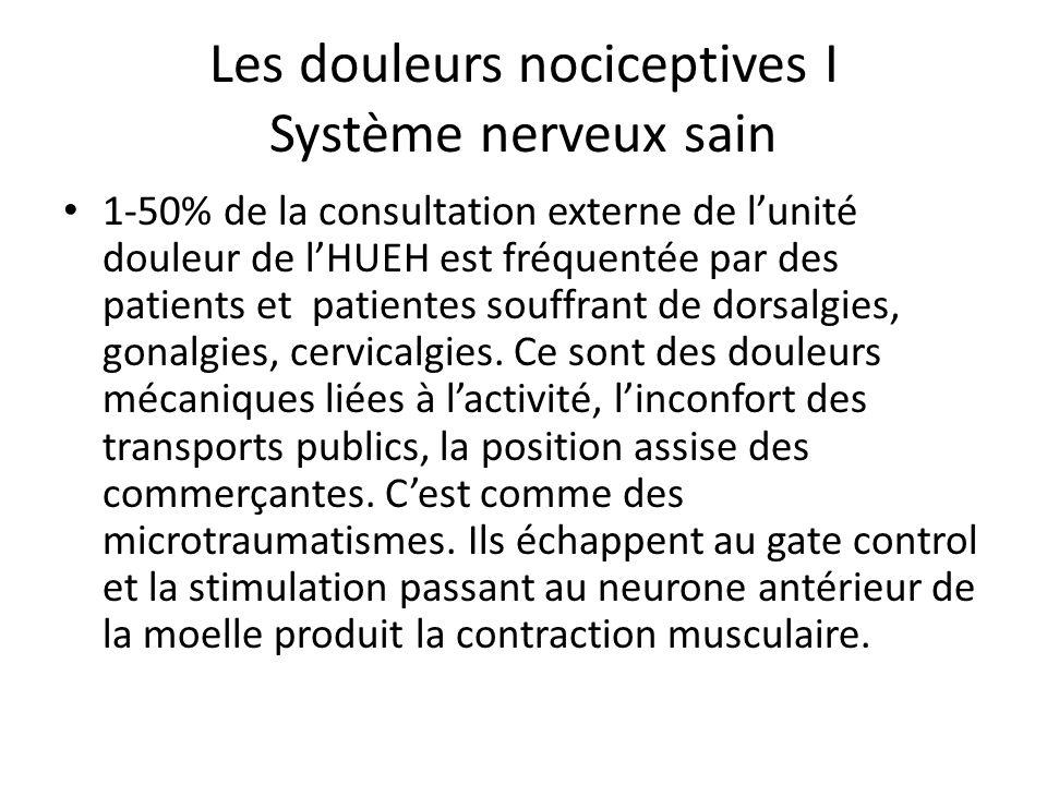 Les douleurs nociceptives I Système nerveux sain