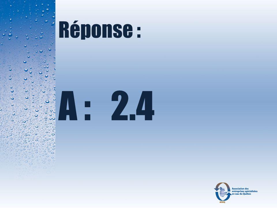 Réponse : A : 2.4