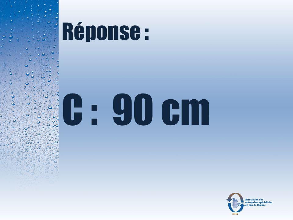 Réponse : C : 90 cm
